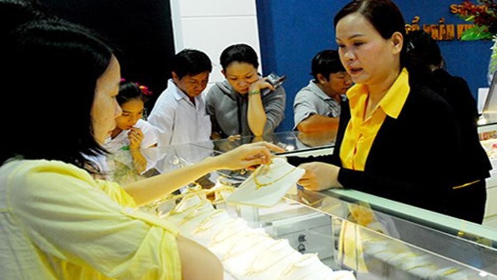 Giá vàng SJC và Bảo Tín Minh Châu sụt giảm tới 180.000 đồng mỗi lượng